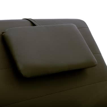 vidaXL Poilsio gultas su pagalve, rudas, dirbtinė oda[8/10]