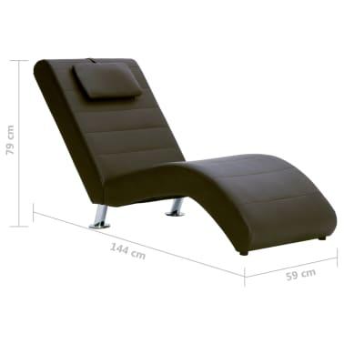vidaXL Poilsio gultas su pagalve, rudas, dirbtinė oda[10/10]