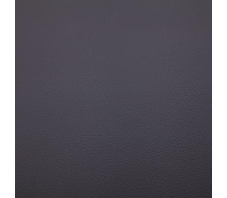 vidaXL Poilsio gultas su pagalve, pilkas, dirbtinė oda[9/10]