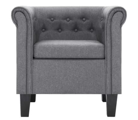 vidaXL Křeslo s polštářem světle šedé polyester[3/8]