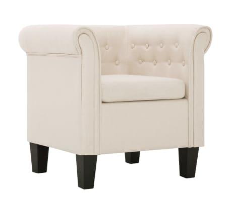 vidaXL Fotelja s jastukom od tkanine krem