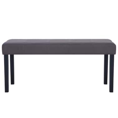 vidaXL Klupa od umjetne kože 106 cm siva[3/7]