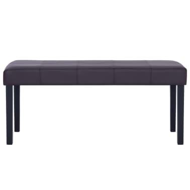 vidaXL Klupa od umjetne kože 106 cm smeđa[3/7]