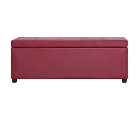 vidaXL Klupa s pretincem za pohranu od umjetne kože 116 cm crvena[2/8]