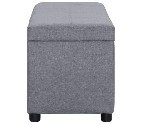 vidaXL Klupa s pretincem za pohranu 116 cm svjetlosiva poliesterska[3/9]