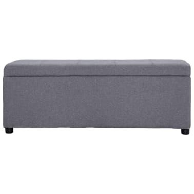 vidaXL Klupa s pretincem za pohranu 116 cm svjetlosiva poliesterska[2/9]