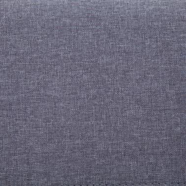vidaXL Klupa s pretincem za pohranu 116 cm svjetlosiva poliesterska[8/9]