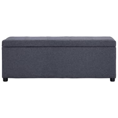 vidaXL Klupa s pretincem za pohranu 116 cm tamnosiva poliesterska[2/8]