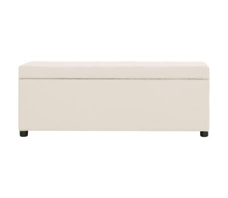 vidaXL Suoliukas su skyr. daiktams, krem. sp., 116cm, poliesteris[2/8]