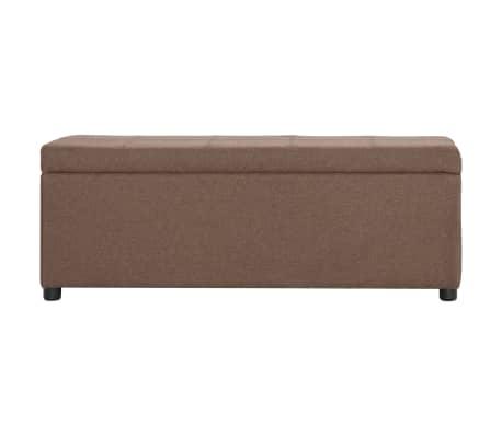 vidaXL Suoliukas su skyr. daiktams, rudos sp., 116cm, poliesteris[2/8]