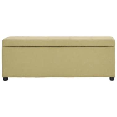 vidaXL Suoliukas su skyr. daiktams, žalios sp., 116cm, poliesteris[2/8]