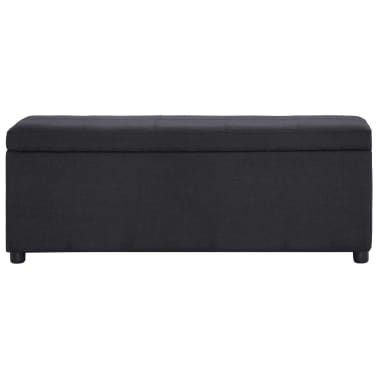 vidaXL Klupa s pretincem za pohranu 116 cm crna poliesterska[2/8]