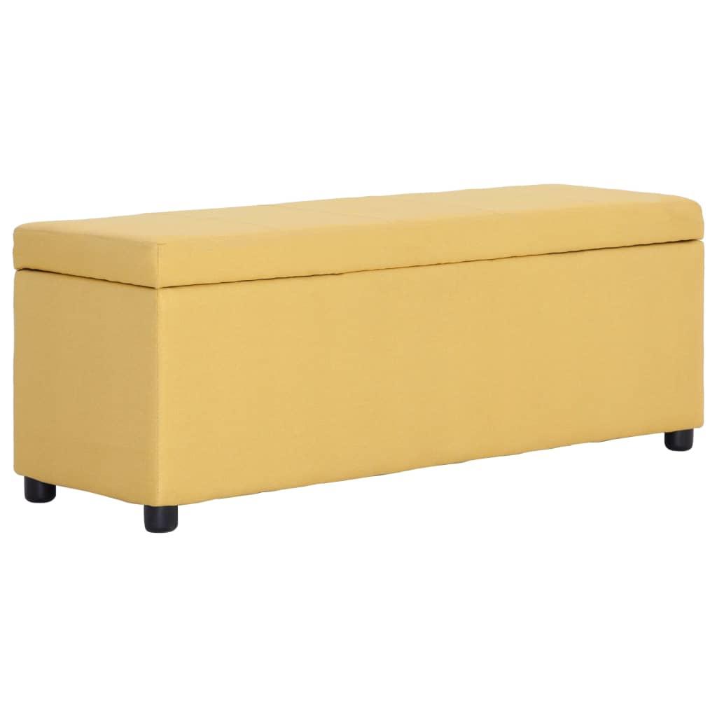 vidaXL Lavice s úložným prostorem 116 cm žlutá polyester