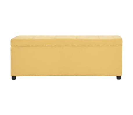 vidaXL Klupa s pretincem za pohranu 116 cm žuta poliesterska[2/8]