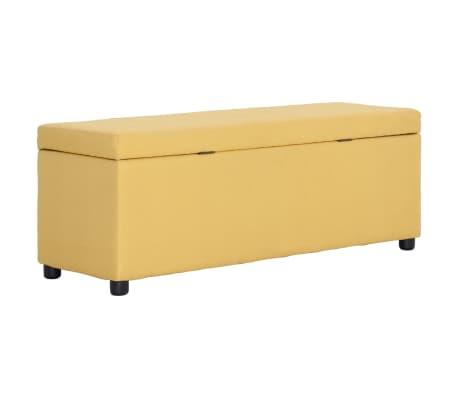vidaXL Klupa s pretincem za pohranu 116 cm žuta poliesterska[4/8]