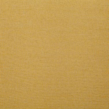 vidaXL Klupa s pretincem za pohranu 116 cm žuta poliesterska[7/8]