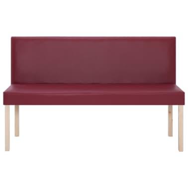 vidaXL Klupa od umjetne kože 139,5 cm crvena boja vina[3/8]