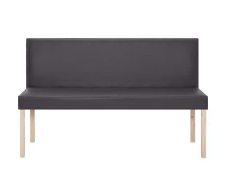 vidaXL Klupa od umjetne kože 139,5 cm siva[3/8]