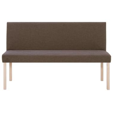 vidaXL Klupa od poliestera 139,5 cm smeđa[3/8]