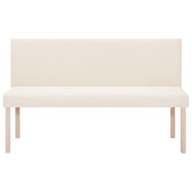 vidaXL Klupa od poliestera 139,5 cm krem[3/8]
