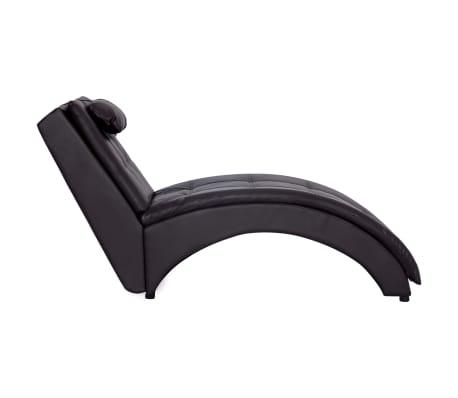 vidaXL Poilsio gultas su pagalve, rudas, dirbtinė oda[3/9]