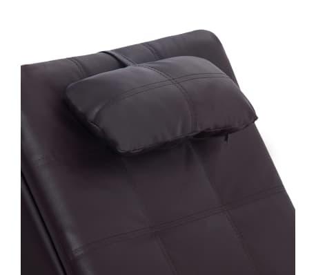vidaXL Poilsio gultas su pagalve, rudas, dirbtinė oda[6/9]
