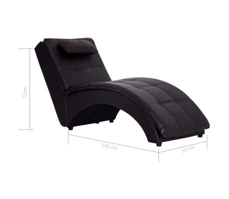 vidaXL Poilsio gultas su pagalve, rudas, dirbtinė oda[9/9]
