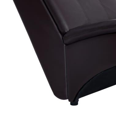 vidaXL Poilsio gultas su pagalve, rudas, dirbtinė oda[7/9]