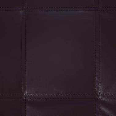 vidaXL Poilsio gultas su pagalve, rudas, dirbtinė oda[8/9]