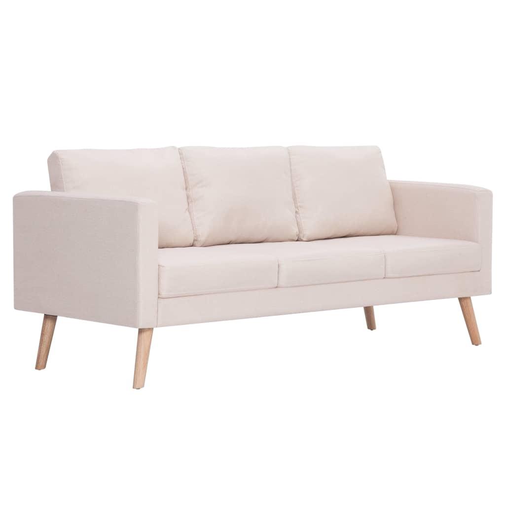 Deze stijlvolle 3-zitsbank is een hele mooie toevoeging aan je leefomgeving. Of je nu een comfortabele zitplaats wilt creëren voor op kantoor, of gewoon even lekker wilt zitten in je eigen huiskamer; deze stoffen bank is een geweldige keuze!