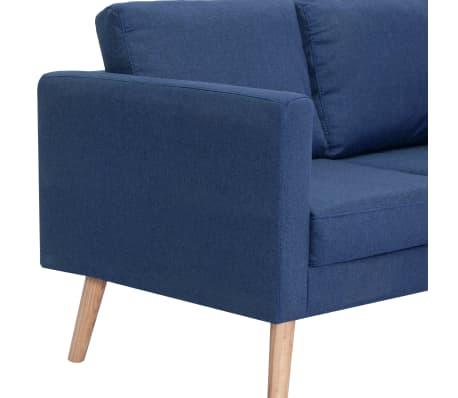 vidaXL Trivietė sofa, mėlyna, audinys[6/8]