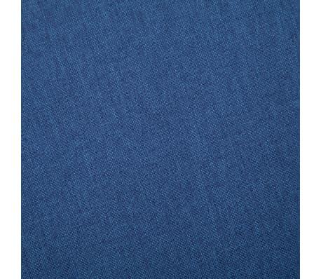 vidaXL Trivietė sofa, mėlyna, audinys[7/8]