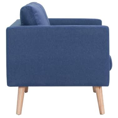vidaXL Trivietė sofa, mėlyna, audinys[5/8]