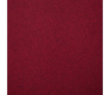 Vidaxl canap 3 places tissu rouge bordeaux - Canape rouge bordeaux ...