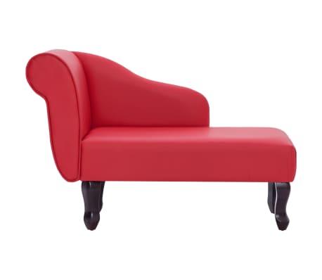 vidaXL Poilsio gultas, raudonas, dirbtinė oda[3/9]