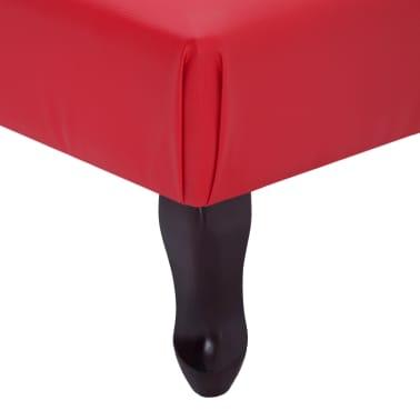 vidaXL Poilsio gultas, raudonas, dirbtinė oda[7/9]