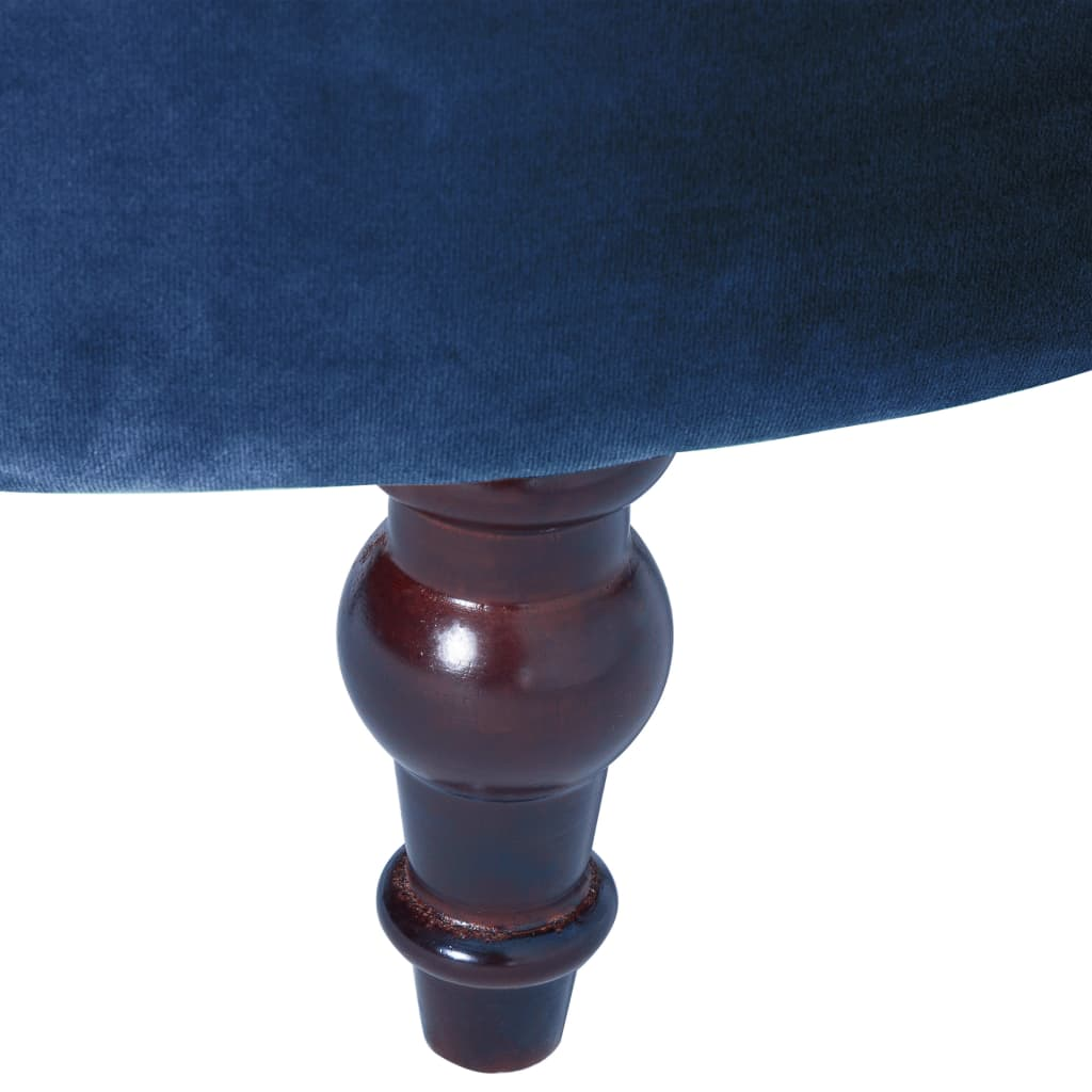 vidaXL Stoel hoge rugleuning fluweel blauw