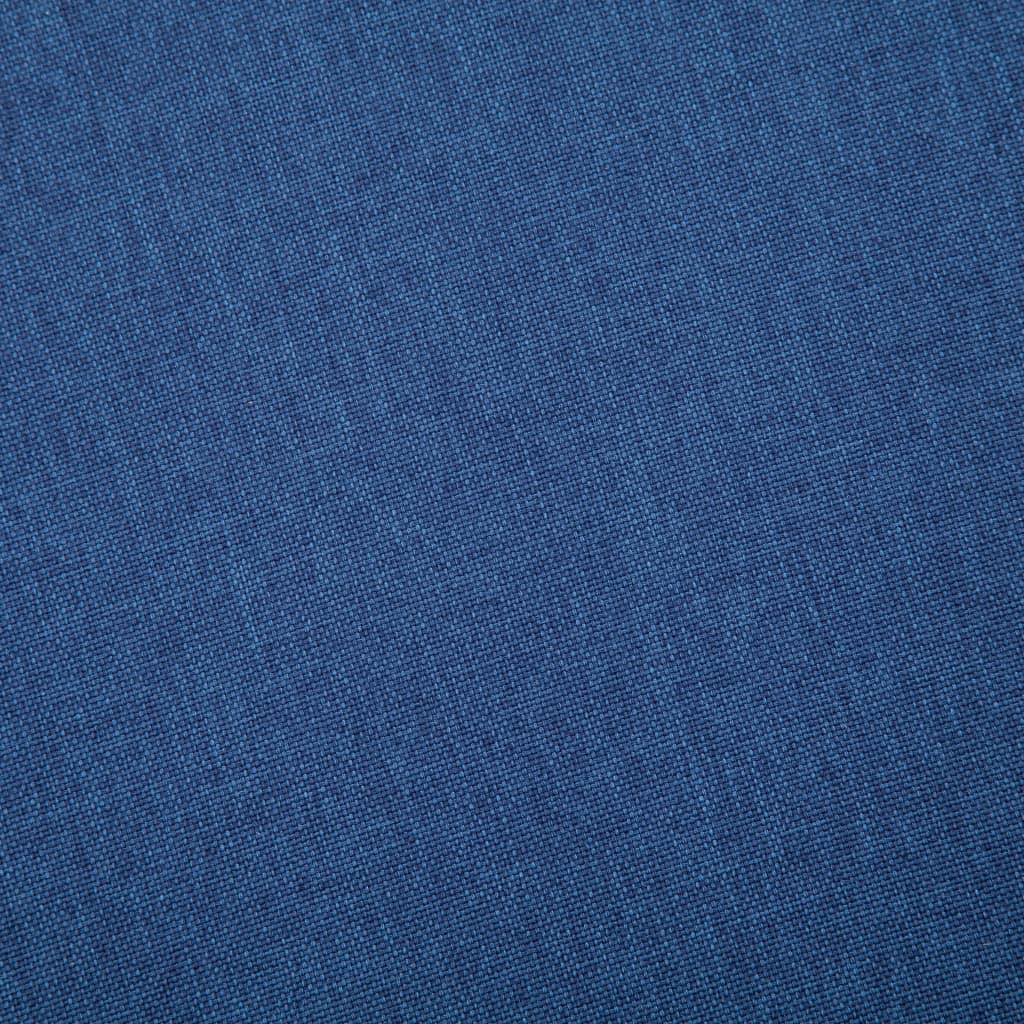 vidaXL Tweezitsbank stof blauw