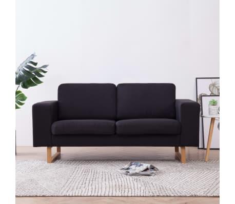 vidaXL 2-Sitzer-Sofa Stoff Schwarz | vidaXL.de
