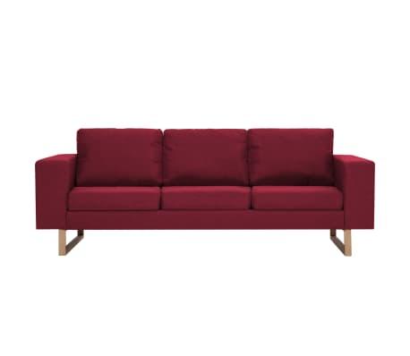 vidaXL 3-kohaline diivan, kangas, veinipunane[3/8]