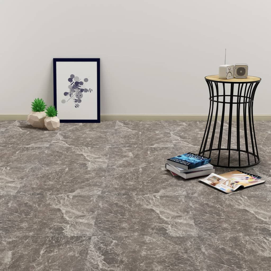 vidaXL Plăci de pardoseală autoadezive, negru marmură, 5,11 m², PVC poza vidaxl.ro