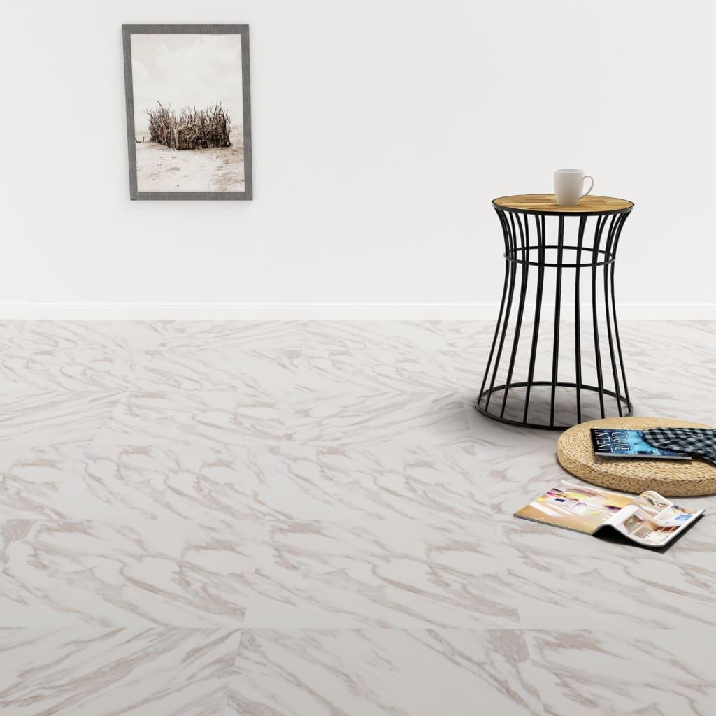 vidaXL Plăci de pardoseală autoadezive, PVC, 5,11 m², marmură albă imagine vidaxl.ro