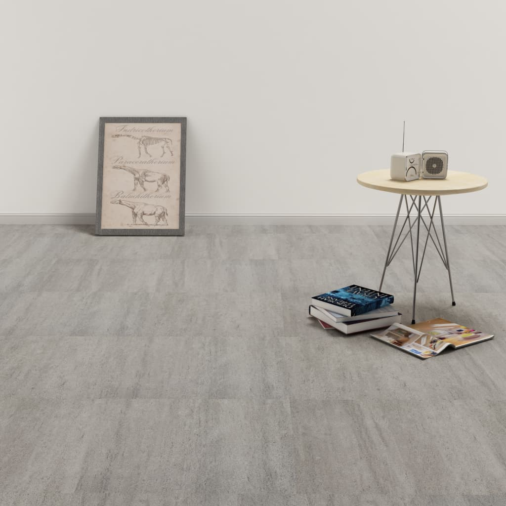 Samolepící podlahové desky PVC 5,11 m² šedé tupované