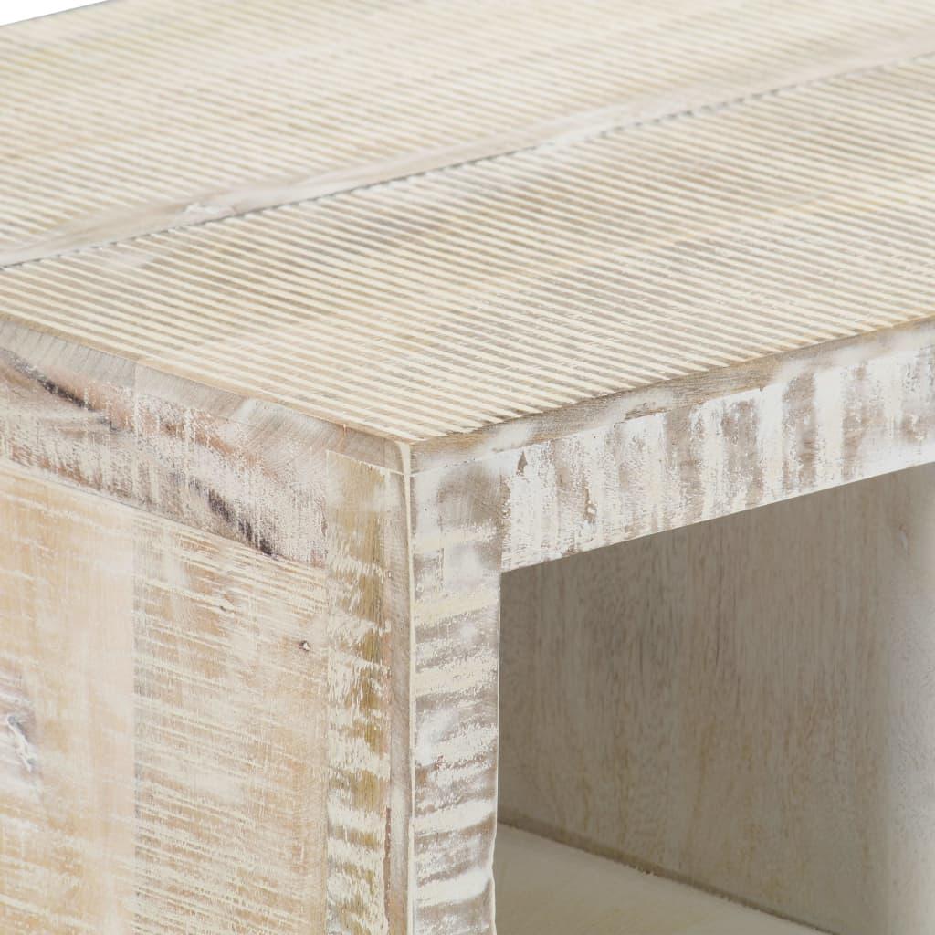 vidaXL Salontafel 110x50x40 cm massief mangohout wit