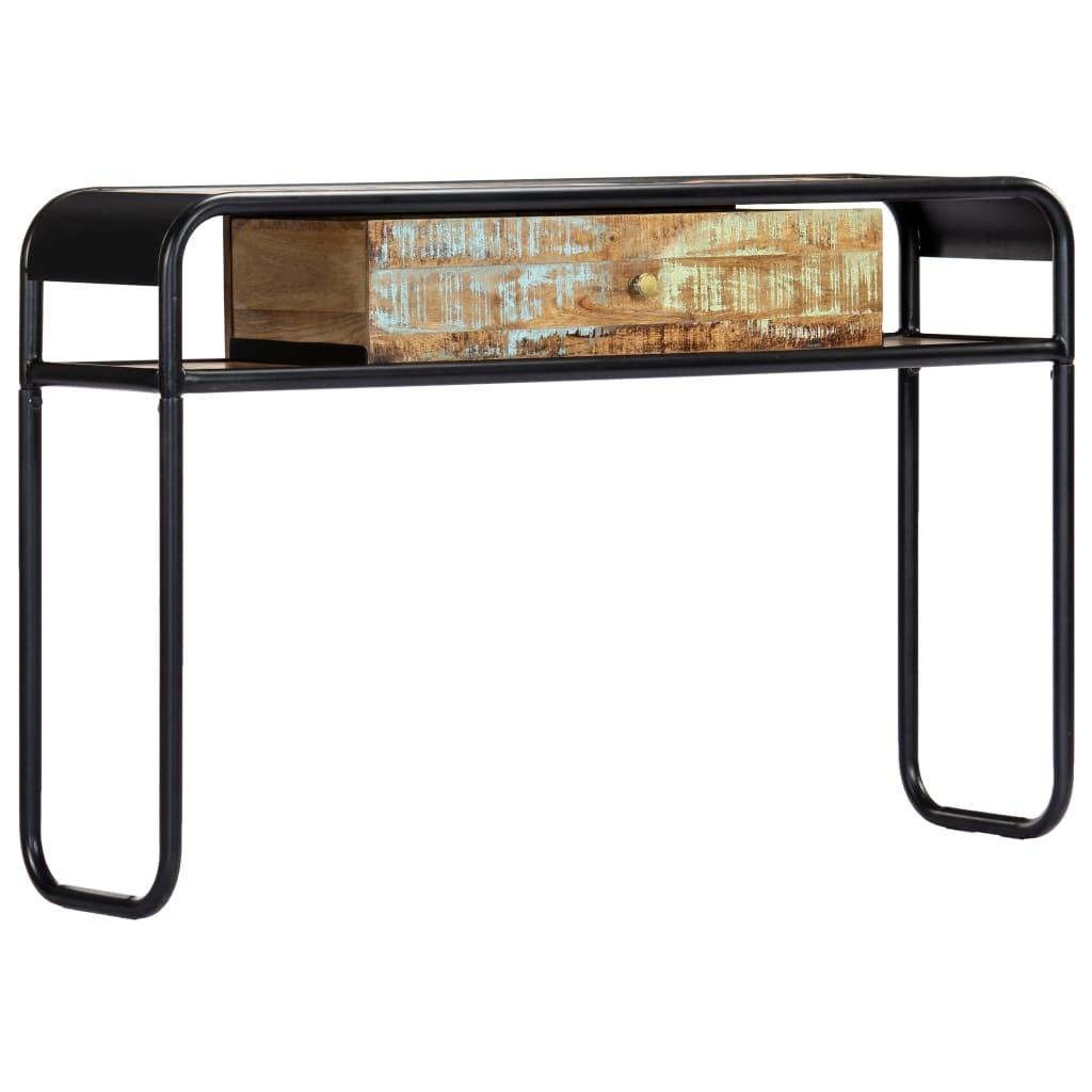 vidaXL Stolik konsola, 118 x 30 x 75 cm, lite drewno z odzysku