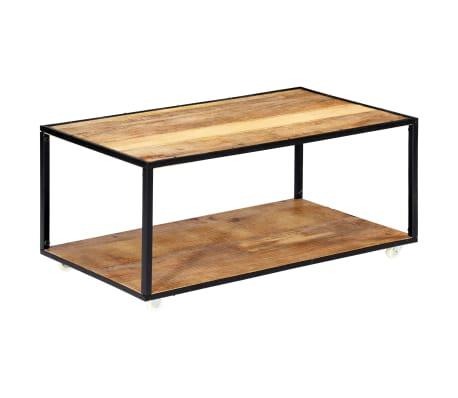vidaXL Kavos staliukas, 90x50x40cm, perdirbtos medienos masyvas[1/13]