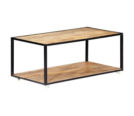 vidaXL Kavos staliukas, 90x50x40cm, perdirbtos medienos masyvas[11/13]