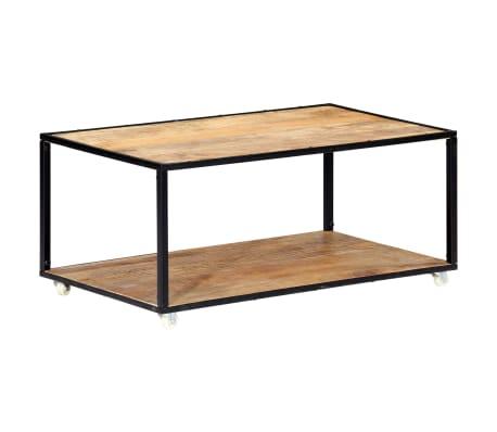 vidaXL Kavos staliukas, 90x50x40cm, perdirbtos medienos masyvas[13/13]