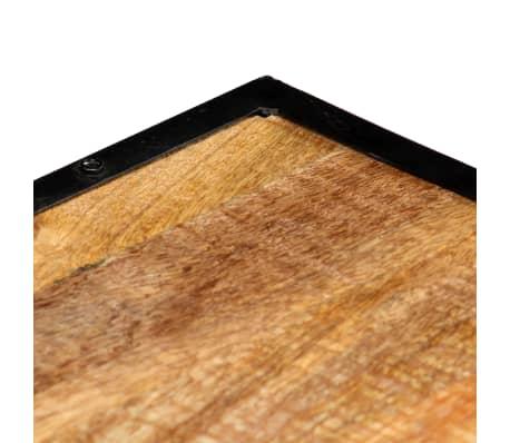 vidaXL Kavos staliukas, 90x50x40cm, perdirbtos medienos masyvas[4/13]