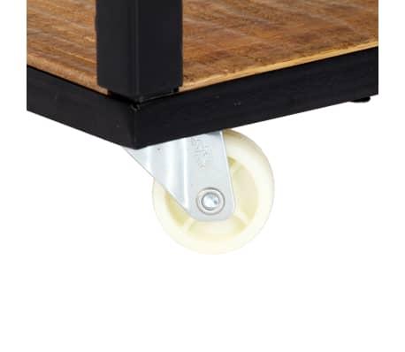 vidaXL Kavos staliukas, 90x50x40cm, perdirbtos medienos masyvas[5/13]